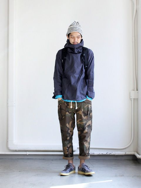 A VONTADE FATIGUE TROUSERS CROPPED LENGTH - WOODLAND CAMO - の画像:STYLE