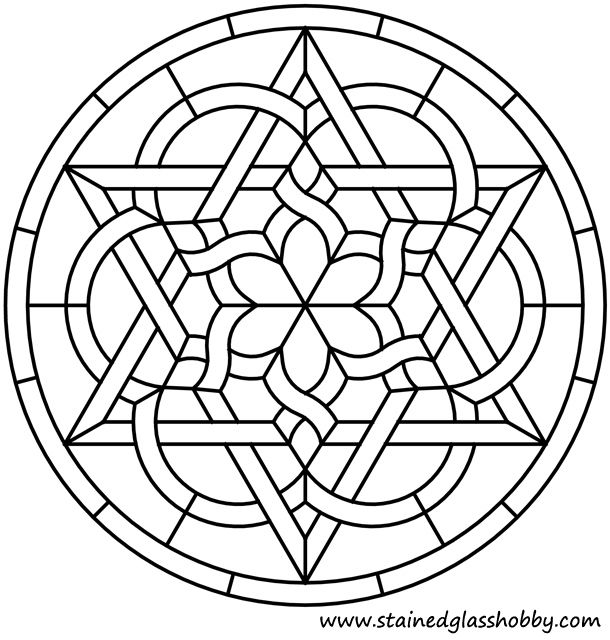 celtic round stained glass panel - Google Search