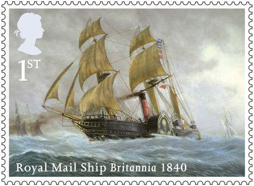 Merchant Navy stamp - 1st Class – Britannia, 1840.