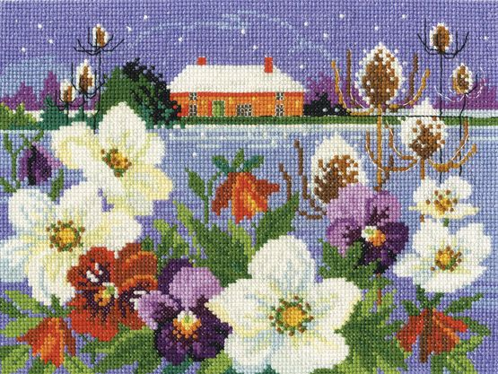 Winter Garden Cross Stitch Kit £22.50 | Past Impressions | DMC