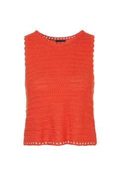 Square Stitch Crochet Vest