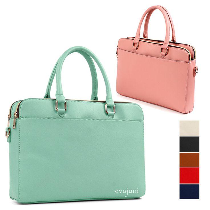 Hit Women Tote Briefcases Laptop Bags Boston Shoulder Handbag Purse Leather  #evajuni #BusinessCase