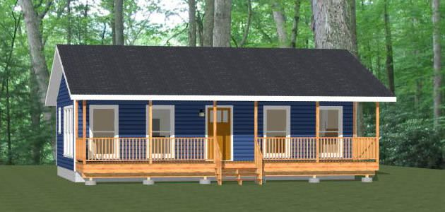 36x22 House 36x22h1 1 Bedroom 1 Bath Home Sq Ft 790 Building Size 36 0 Wide 32 6 Deep Main Roof Pitch Small House Plans House Plans Floor Plans