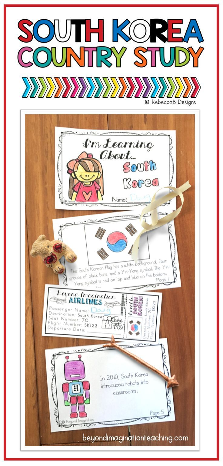 How Cute Is This South Korea Country Study Booklet Project For Little Learners Country Study Tp Country Studies Country Study Project Classroom Activities