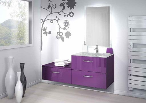 17 meilleures id es propos de salle de bains prune sur for Carrelage aubergine