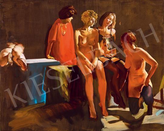 Csernus Tibor - Műteremben (A tükör), 1990 | 53. Őszi Aukció aukció / 132 tétel