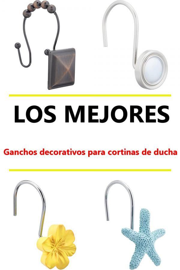 n/íquel Basics Ganchos para cortinas de ducha ganchos cuadrados forrados