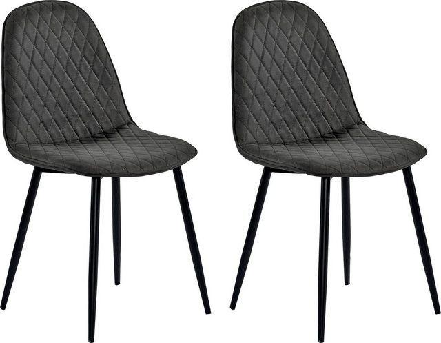 4 Fussstuhl Haiti Bezug Mit Attraktiver Rautensteppung Stuhle Moderne Stuhle Tolle Stuhle
