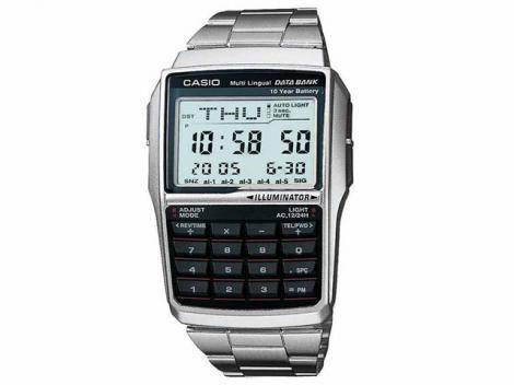 Relógio de Pulso Masculino Digital com Calculadora - Casio DBC 32D 1ADF Relógio de pulso masculino com calculadora, com agenda para até 25 grupos de dados. Relógio de Pulso Digital com Calculadora Masculino - Casio