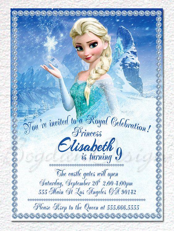 Frozen Invitation Disney invitation Frozen by BogdanDesign on Etsy, $7.99