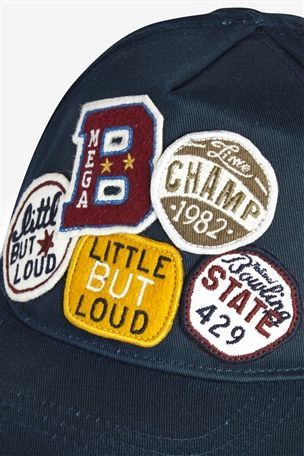 multi badge baseball cap
