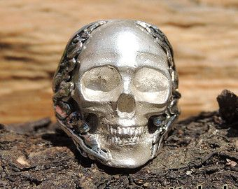 Mexican Sugar Skull Ring - Mens skull ring jewelry Mexican Skull sterling cráneo…