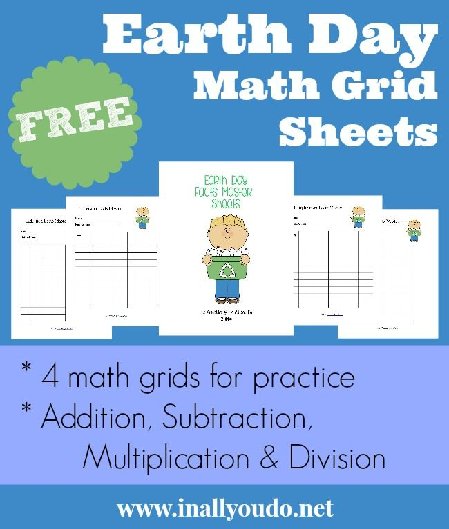 {FREE} Earth Day Facts Master Math Grid Sheets - In All You Do