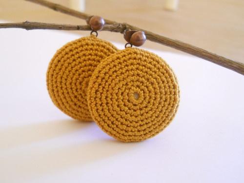 le Camilla, crochet earrings #crochet #earrings