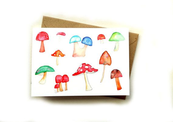 Mushroom greetings card by Emma Allard Smith