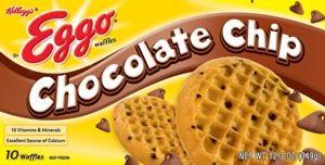 Homemade Eggo Chocolate  chip waffles for the freezer