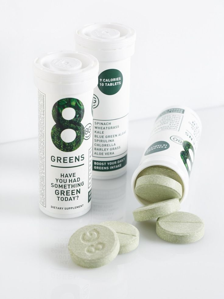 8 Greens (6 Pk) | **8G**    Treat your body to this six pack of game-changing tubes featuring 10 easy-to-use dissolving tablets packed with a nourishing blend of eight essential greens: Spirulina, Kale, Spinach, Chlorella, Wheatgrass, Barley Grass, Aloe Vera and Blue Green Algae.