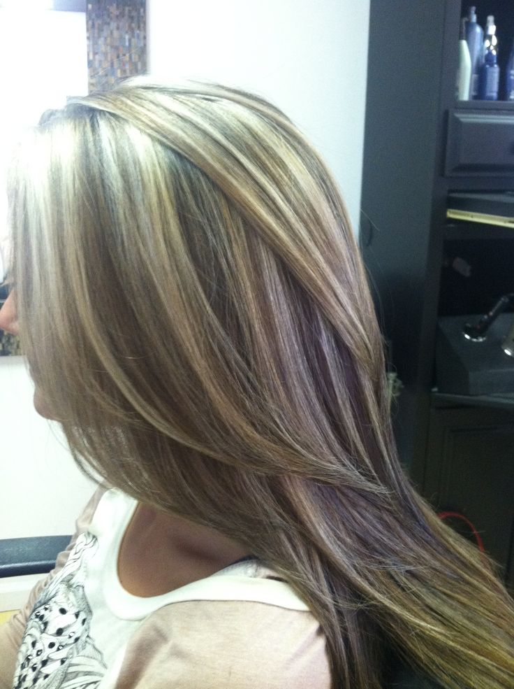 Highlights u0026 lowlights of medium and dark browns faded with blonde! & 97 best blonde hair lowlights images on Pinterest | Haircut styles ...