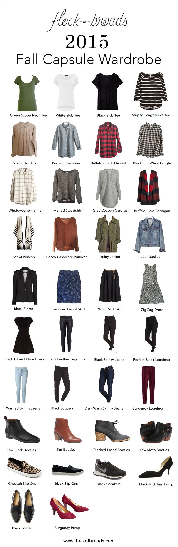 2015 Fall Capsule Wardrobe