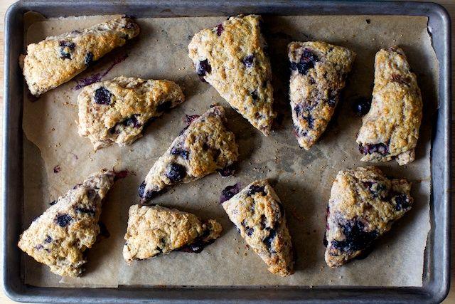 very blueberry scones