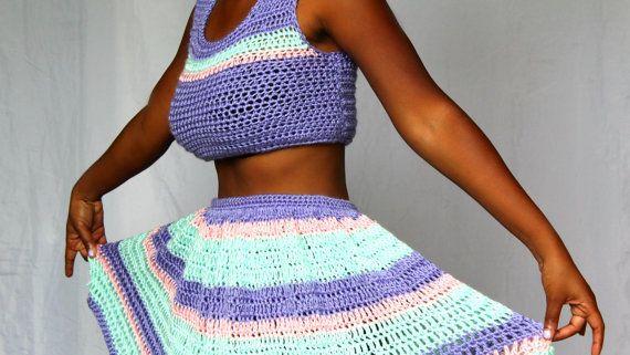 Matching Top and Skirt Matching Set Top Skirt Handmade Skirt