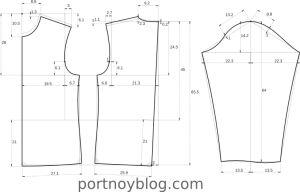 выкройка футболки с длинным рукавом