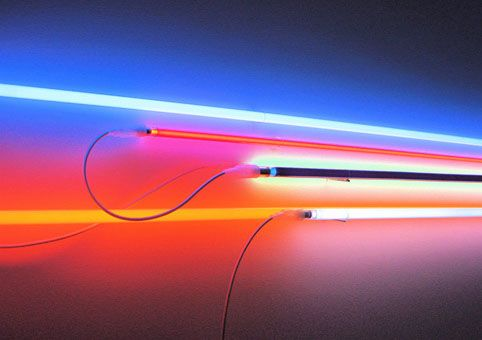 Here are some light sculptures and installations by Christian Herdeg since 1978 until 2012, using neons tubes and black lights, and c...
