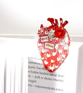 bookmark by Dorotka    TES-003 heart in love: negativ - zakochane serce: negatyw