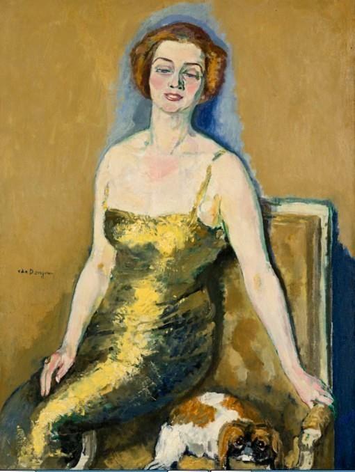 colin-vian: Kees van Dongen - Portrait de Madame Van Der Velde, 1920-23. Oil on canvas