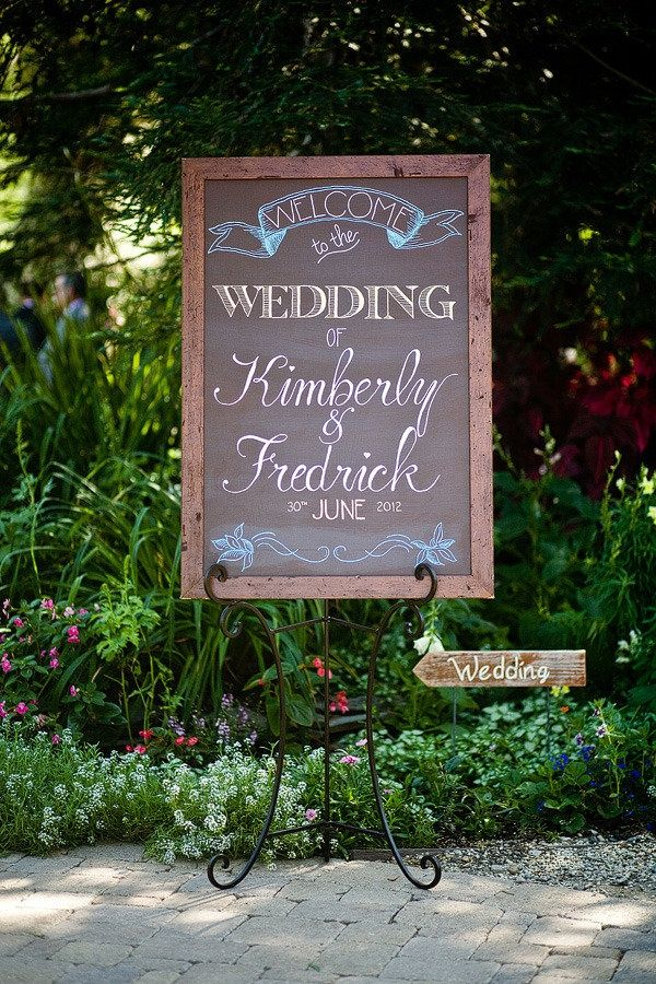 chalkboard wedding welcome sign. I think this is my favorite I have seen thus far.