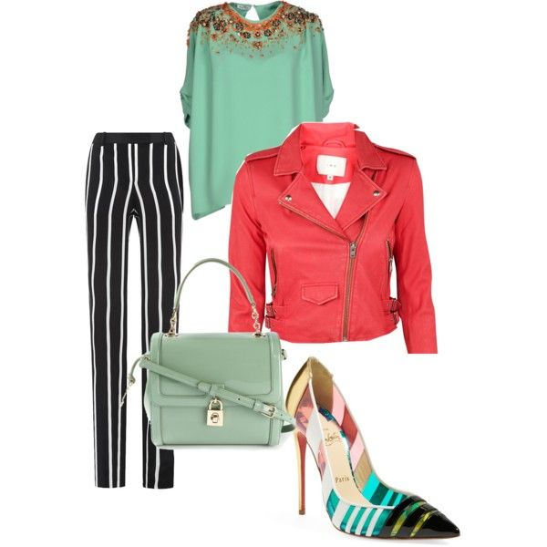 A fashion look from February 2015 featuring Miu Miu blouses, IRO jackets and Emilio Pucci pants. Browse and shop related looks.