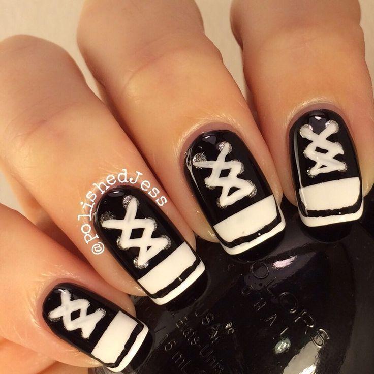 sneakers nail art