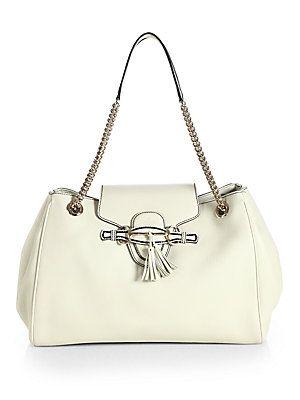 gucci bags at saks. gucci emily+leather+shoulder+bag bags at saks i