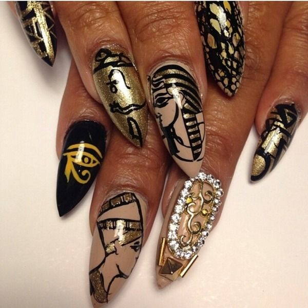 Egypt stiletto nails