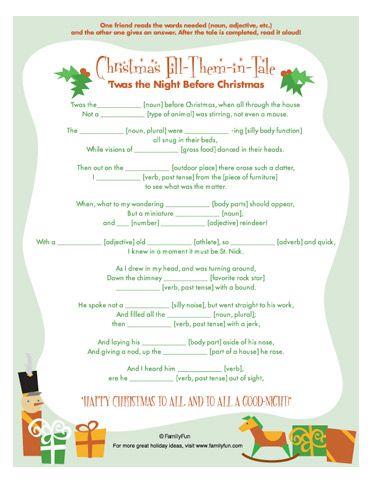 Christmas ad libs