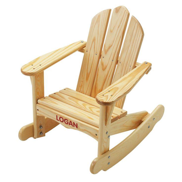 Outdoor Little Colorado Childs Sunroom Adirondack Rocking Chair - 141-UN-WHTP