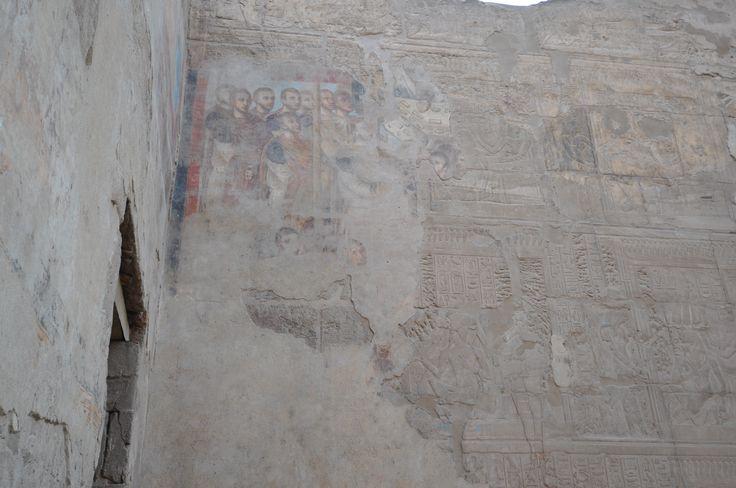 Tempio di Luxor, Egitto. Affresco romano, III secolo. Periodo di Diocleziano