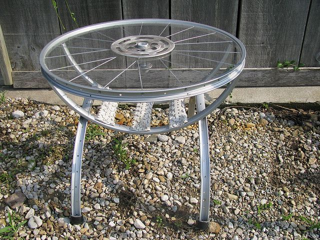 17 best images about bike rims on pinterest earth day for Bicycle wheel table