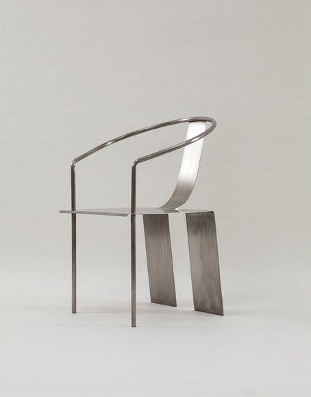 """Shao Fan   """"Steel Chair - 2000"""" 2002  stainless steel  (H)93 x 48 x 55 cm"""