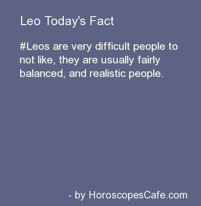 Leo Daily Fun Fact
