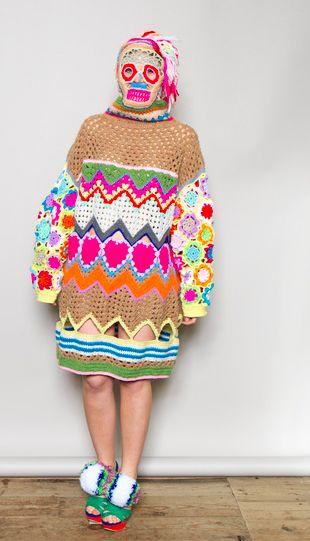 knitted funky monster