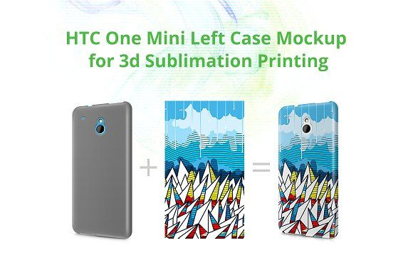 HTC One Mini 3dCase Mock-up by VecRas on @creativemarket