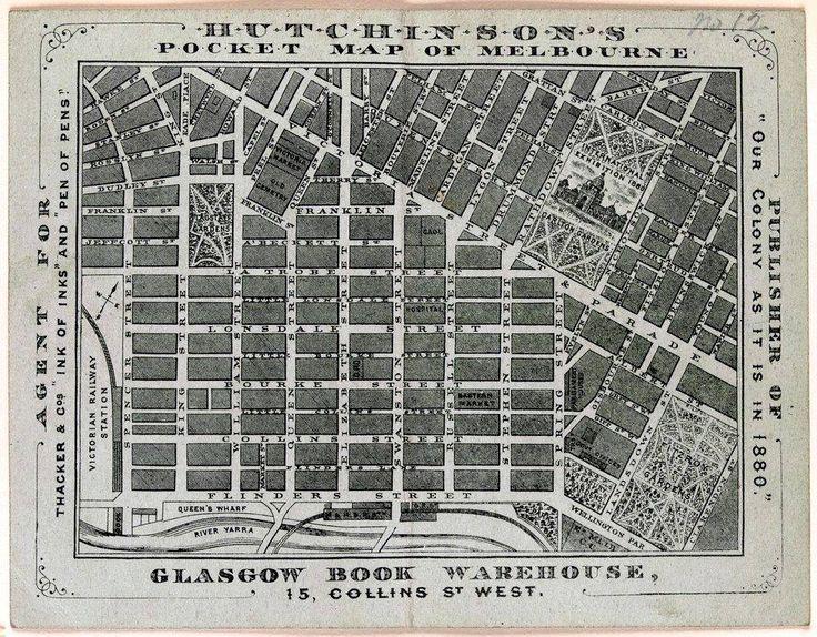 Hutchinsons pocket map of Melbourne 1880_