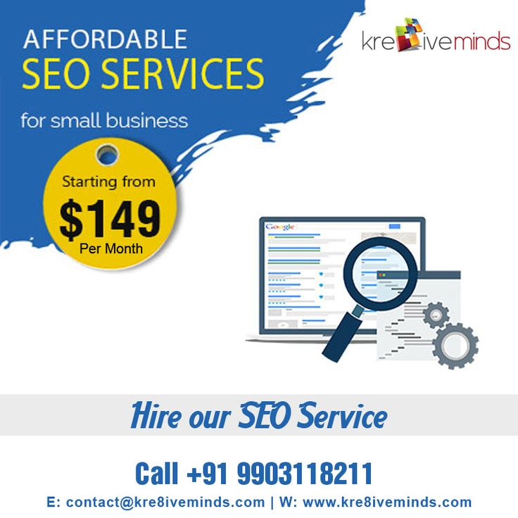 Hire Our #SEO #Service. at $149! Book Now Contact us for more details @ +91 9163363931 Website: www.kre8iveminds.com