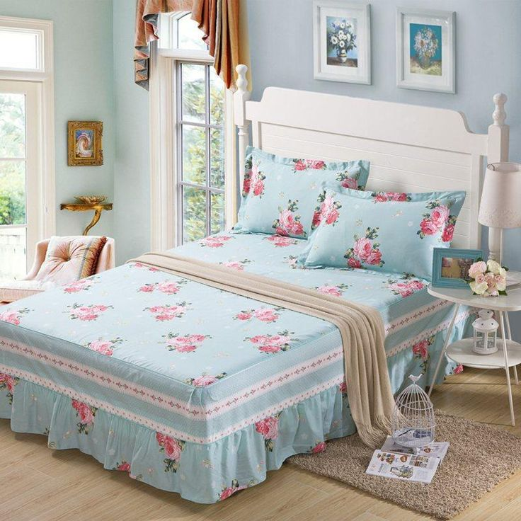 king size bed skirts bedding sets include 2 pillow and bed linen - King Size Bed Sheets