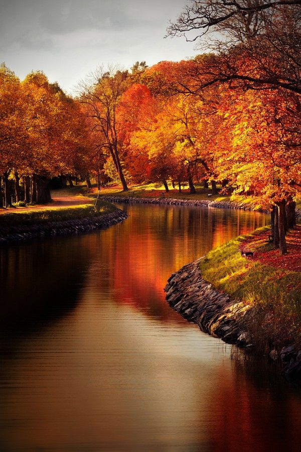 ~~Autumn River • Stockholm, Sweden • by Christian Schweitz~~