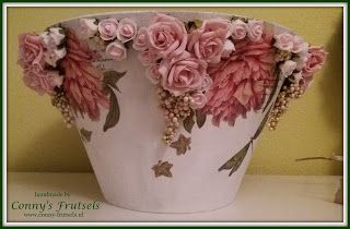 Conny's Frutsels: Lampenkap / lampshade decoupage
