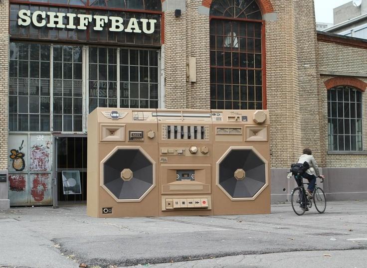 Paper Ghetto Blaster vu sur Fubiz