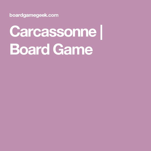 Carcassonne | Board Game
