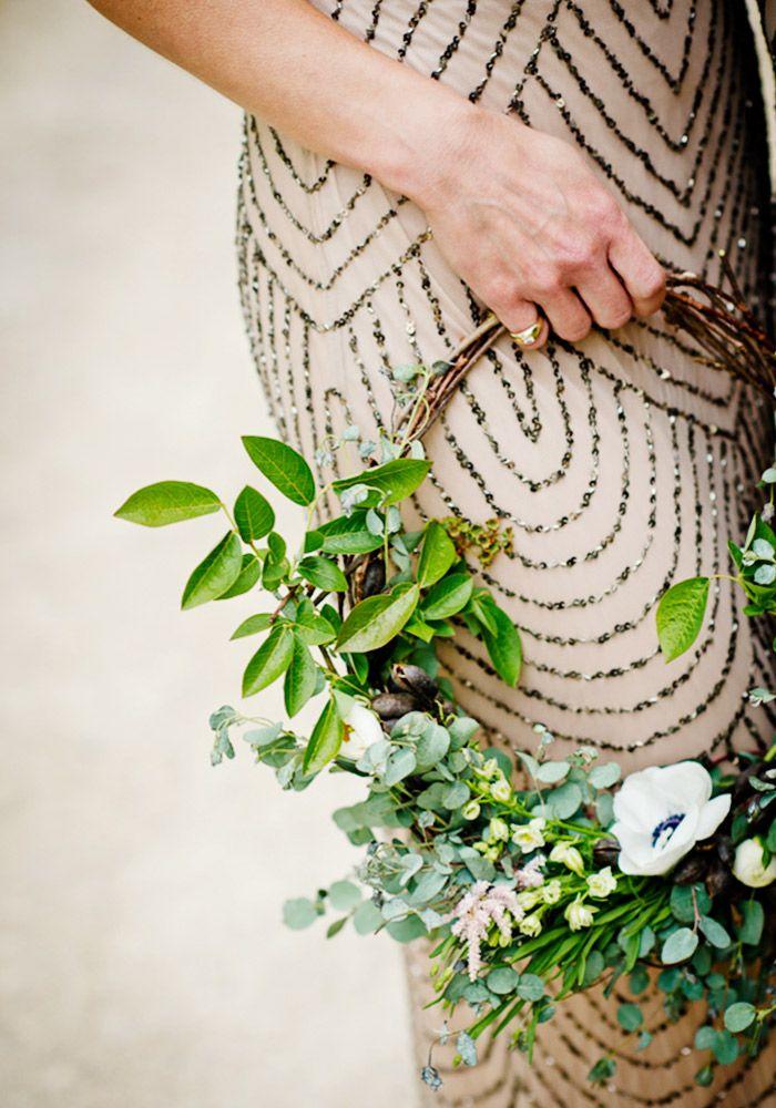 A wreath as wedding flowers